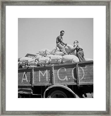 The Allied Military Government Supplies Framed Print by Stocktrek Images