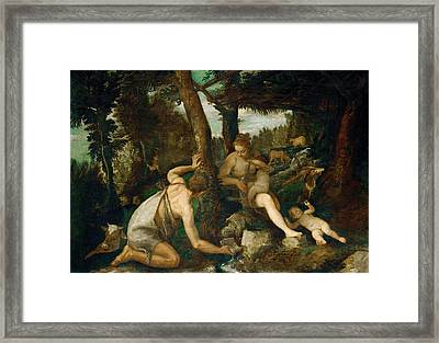 Adam And Eve After The Expulsion From Paradise Framed Print by Paolo Veronese