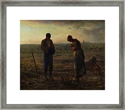 The Angelus Framed Print by Celestial Images