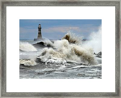 The Angry Sea Framed Print by Morag Bates