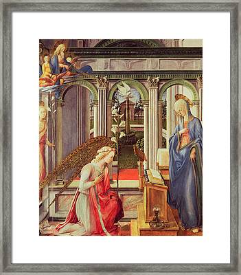 The Annunciation Framed Print by Fra Filippo Lippi
