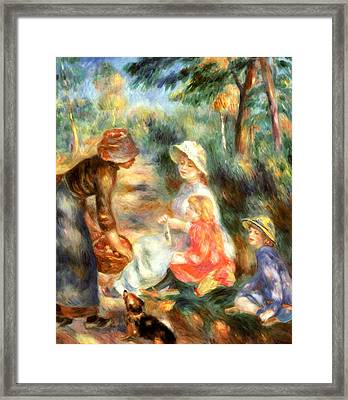 The Apple Seller Framed Print by Pierre-Auguste Renoir