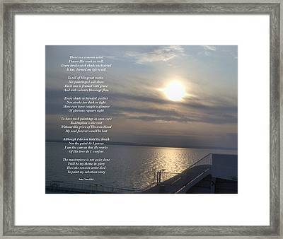 The Artist Framed Print by Kathy J Snow