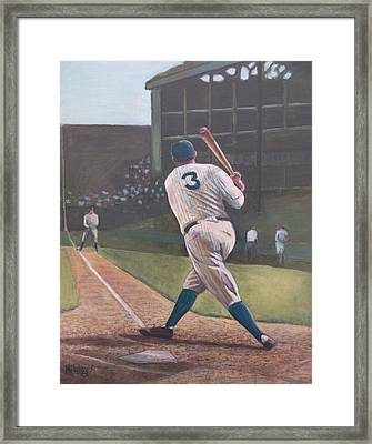 The Babe Sends One Out Framed Print by Mark Haley
