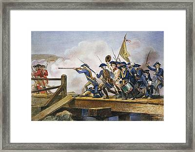 The Battle Of Concord, 1775 Framed Print by Granger