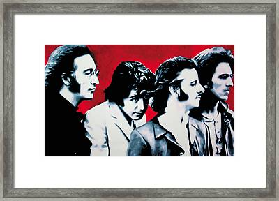 The Beatles Framed Print by Luis Ludzska