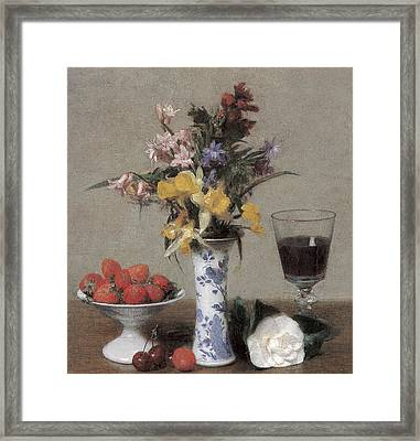The Betrothal Still Life Framed Print by Henri Fantin-Latour