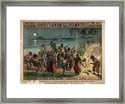 The Big Black Boom Framed Print by British Library