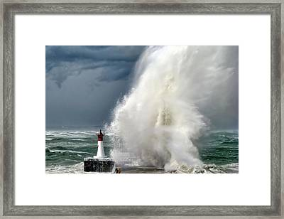 The Big One Framed Print by Andrew Hewett