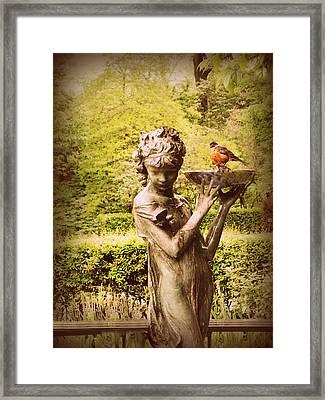 The Burnett Fountain Framed Print by Jessica Jenney