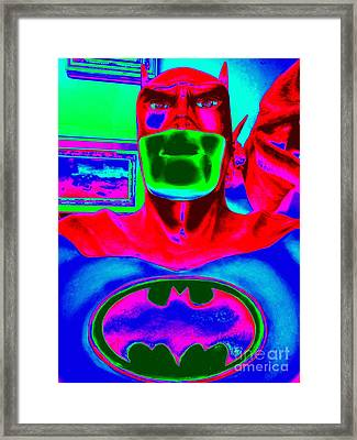 The Caped Crusader Framed Print by Ed Weidman