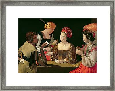 The Cheat With The Ace Of Diamonds Framed Print by Georges de la Tour