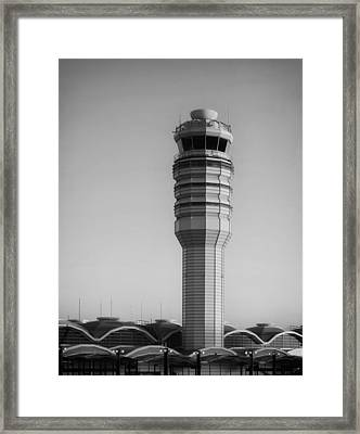 The Control Tower At Ronald Reagan National Airport Framed Print by Mountain Dreams