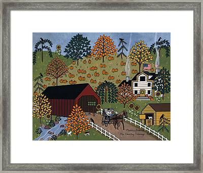 The Country Carriage Ride Framed Print by Medana Gabbard