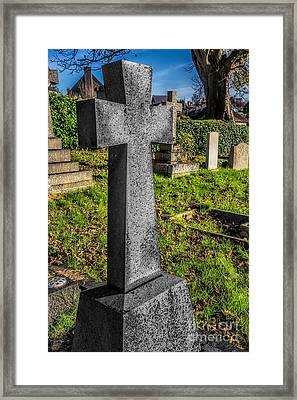 The Cross Framed Print by Adrian Evans