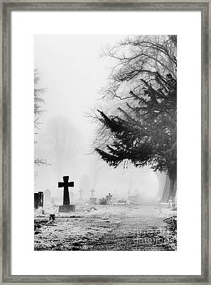 The Cross Framed Print by Tim Gainey