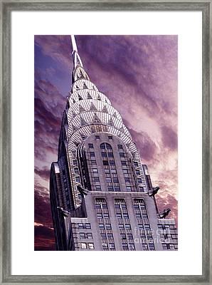 The Crysler Building Framed Print by Jon Neidert