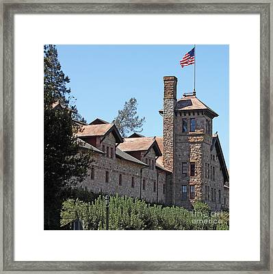 The Culinary Institute Of America Greystone St Helena Napa California 5d29498 Square Framed Print by Wingsdomain Art and Photography
