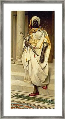 The Emir Framed Print by Ludwig Deutsch