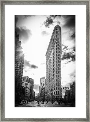 The Famous Flatiron Building - New York City Framed Print by Erin Cadigan