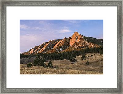 The Flatirons Framed Print by Aaron Spong