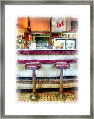 The Four Aces Diner Framed Print by Edward Fielding