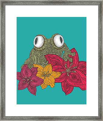 The Frog Framed Print by Valentina Ramos