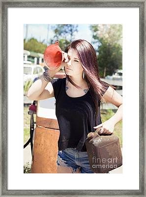 The Future Of Oil Framed Print by Jorgo Photography - Wall Art Gallery