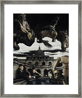 The Ghosts Of Capitol Hill Framed Print by Ken Howard