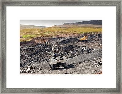 The Glentaggart Open Cast Coal Mine Framed Print by Ashley Cooper