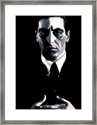 The Godfather Framed Print by Luis Ludzska