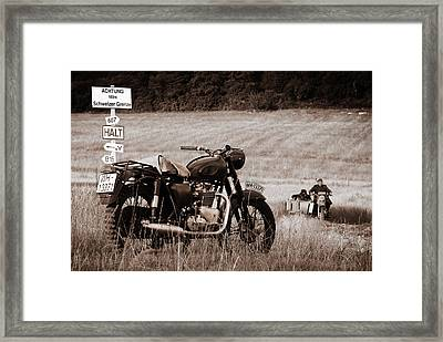 The Great Escape Motorcycle Framed Print by Mark Rogan