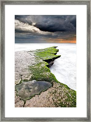 The Green Path Framed Print by Jorge Maia