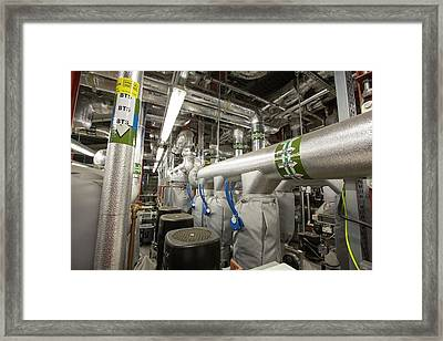 The Ground Source Heat Pump System Framed Print by Ashley Cooper