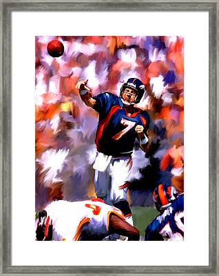 The Gun IIi  John Elway Framed Print by Iconic Images Art Gallery David Pucciarelli
