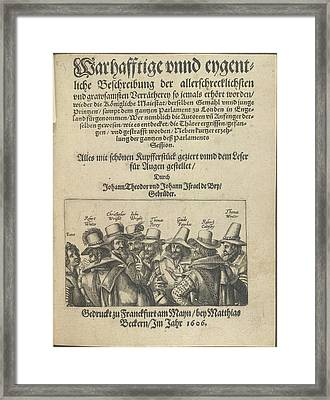 The Gunpowder Plot Conspirators Framed Print by British Library