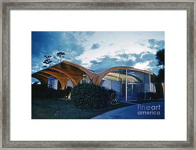 The Herron House Designed By Architect Victor Lundy 1961 Framed Print by The Phillip Harrington Collection