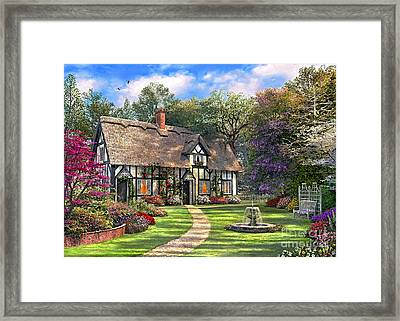 The Hideaway Cottage Framed Print by Dominic Davison