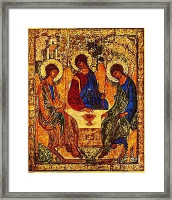 The Holy Trinity Framed Print by Doc Braham