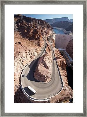 The Hoover Dam And Lake Mead Framed Print by Ashley Cooper