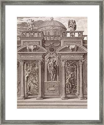 The House Of Sleep Framed Print by Bernard Picart