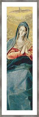 The Immaculate Conception  Framed Print by El Greco Domenico Theotocopuli