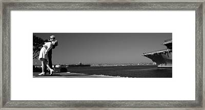The Kiss Between A Sailor And A Nurse Framed Print by Panoramic Images
