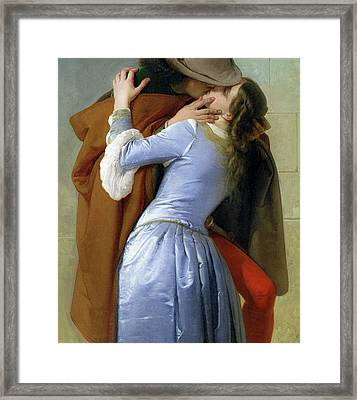 The Kiss Framed Print by Francesco Hayez