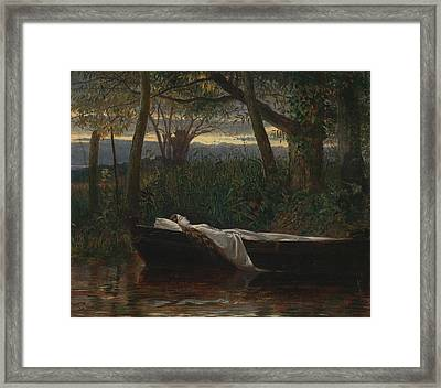 The Lady Of Shalott Framed Print by Walter Crane