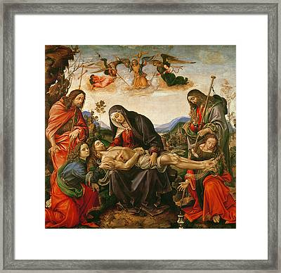 The Lamentation Of Christ Framed Print by Capponi