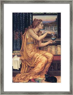 The Love Potion Framed Print by Evelyn De Morgan