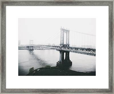 The Manhattan Bridge Framed Print by Natasha Marco