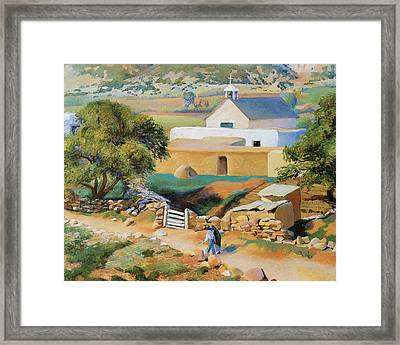The Mission Church Framed Print by Kenneth Miller Adams