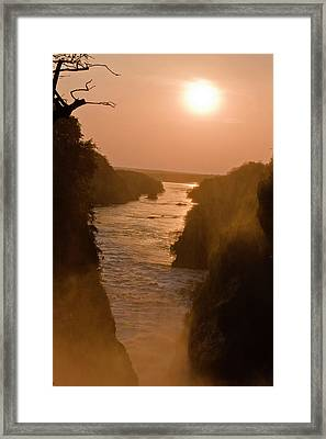 The Murchison Falls Of The River Nile Framed Print by Martin Zwick